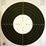 Terč pistolový mezinárodní 50/20 s kruhy - negativní